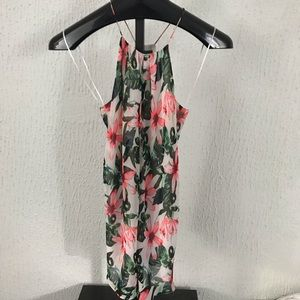 Vince Camuto White Floral Print Size US XS